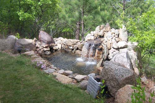 Beautiful backyard water feature design and building in Colorado Springs